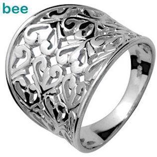 Sterling Silver Fashion Ring with Flair