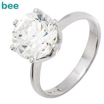 Large Cubic Zirconia solitaire ring