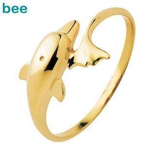 Playful 9 ct. Gold Dolphin ring