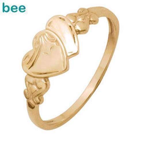 Engraved heart 9 ct signet ring