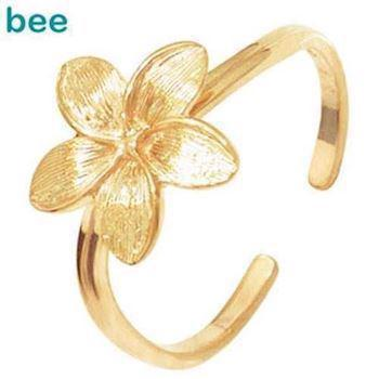 9 ct gold flowers toering