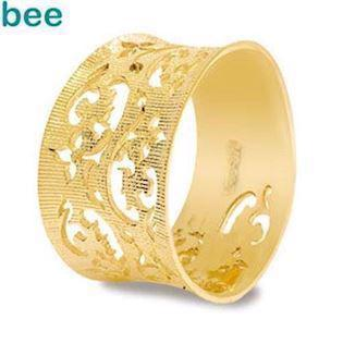 Solid Gold Floral Design Ring