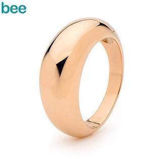Solid Rose Gold Dome Ring