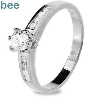 Whitegold diamond Engagement Ring - 0.46 Carat