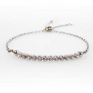 San - Link of joy Bracelet, model Tennis-05-hvid