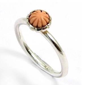 Spinning sterling silver fingerring