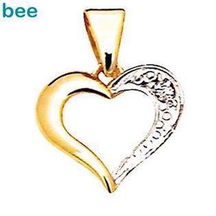 Classic 9 ct diamond set heart pendant