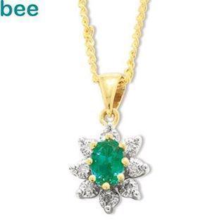 Classic emerald and diamond pendant