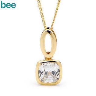 Cushion Cut Cubic Zirconia Pendant