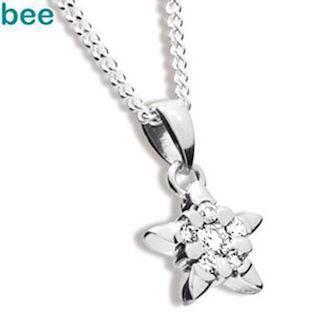Diamond Star Pendant in 9 ct white gold